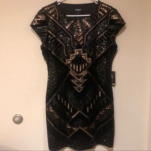 Express Glam Mini Dress